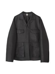 Totême - Army Leather Jacket -nahkatakki - BLACK 200 | Stockmann