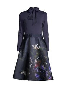 Ted Baker London - Dominaa Pomegranate Full Skirt Dress -mekko - 10 NAVY | Stockmann