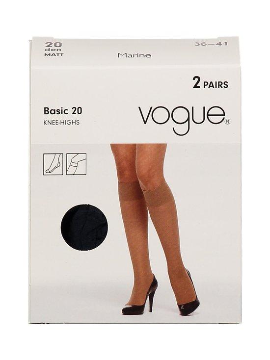 Vogue - Basic 20 den -polvisukat 2-pack - MARINE | Stockmann - photo 1