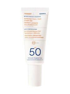 Korres - Yoghurt Face & Eyes Sunscreen SPF50 Fragrance Free -aurinkosuojageeli 40 ml | Stockmann