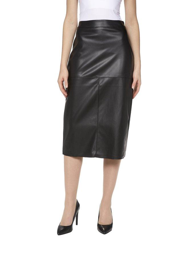 Midi PU Skirt -tekonahkahame
