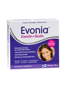 Evonia - Keratin + Biotin 60 kaps 25 g | Stockmann