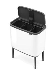 Brabantia - Bo Touch Bin -roskakori 3 x 11 l - WHITE (VALKOINEN) | Stockmann