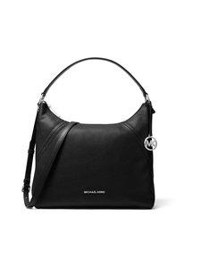 Michael Michael Kors - Aria Large Shoulder Bag -nahkalaukku - BLACK 001 | Stockmann