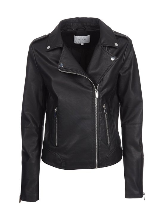 Vila - ViCara Faux Leather -takki - BLACK (MUSTA)   Stockmann - photo 1