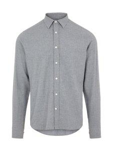 J.Lindeberg - Light Flannel Slim Shirt -flanellipaita - 9116 GRANITE | Stockmann