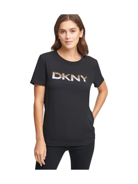 Dkny - T-Shirt Logo SS -paita - BGD - BLK/GOLD | Stockmann - photo 1