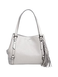 Michael Michael Kors - Carrie Large Shoulder Bag -nahkalaukku - 081 PEARL GREY | Stockmann