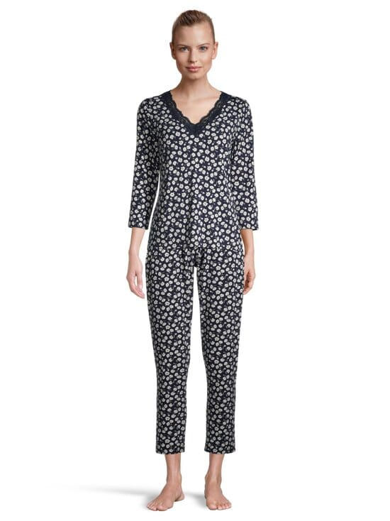 NOOM loungewear - Viola-pyjamahousut - DK.NAVY PRINT | Stockmann - photo 2