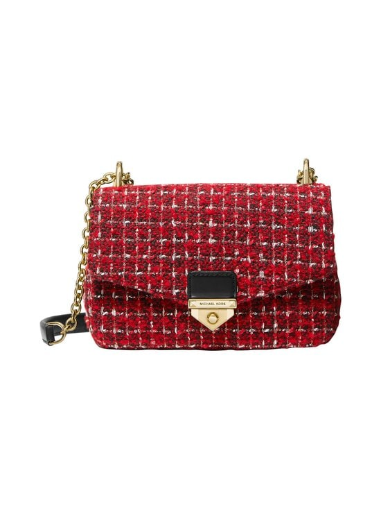 Michael Michael Kors - Soho Small Tweed Shoulder Bag -laukku - 683 BRIGHT RED | Stockmann - photo 1