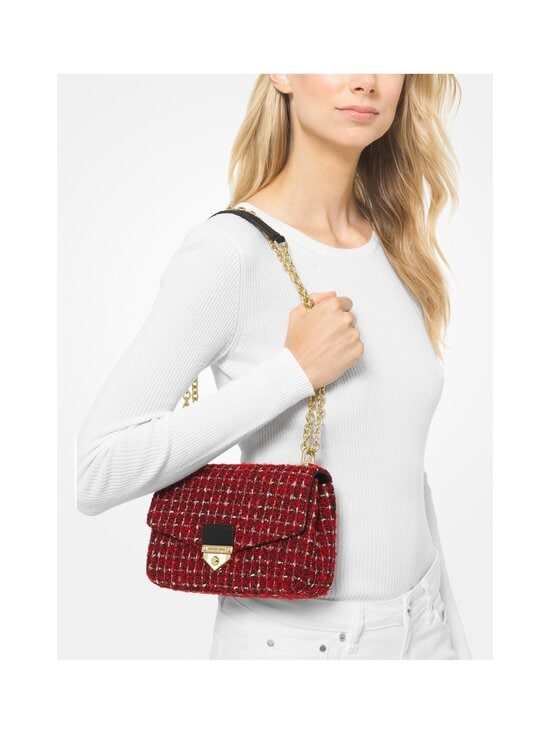 Michael Michael Kors - Soho Small Tweed Shoulder Bag -laukku - 683 BRIGHT RED | Stockmann - photo 4