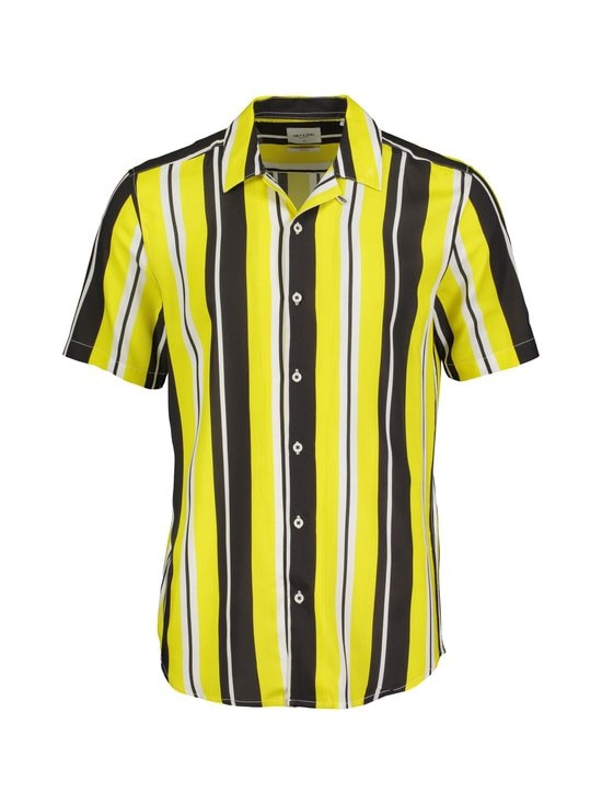 Only & Sons - OnsCarter Striped Viscose -kauluspaita - BLAZING YELLOW | Stockmann - photo 1