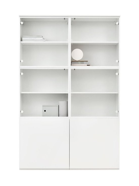 Lundia - Fuuga-vitriini 35 x 194 x 128 cm - WHITE PAINTED MDF/GLASS   Stockmann - photo 1