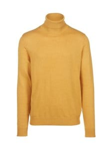 Jack & Jones - JjeEmil Knit Roll Neck -puuvillasekoiteneule - SPICY MUSTARD | Stockmann