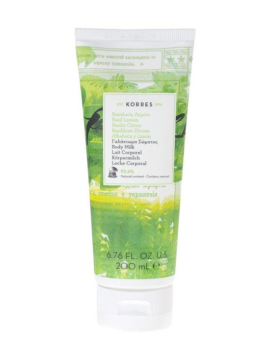 Korres - Basil Lemon Body Milk -vartalovoide 200 ml - null   Stockmann - photo 1