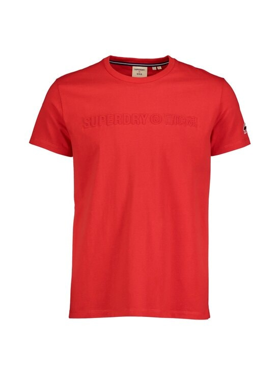 Superdry - Sportstyle Embossed Tee -paita - OPI RISK RED | Stockmann - photo 1