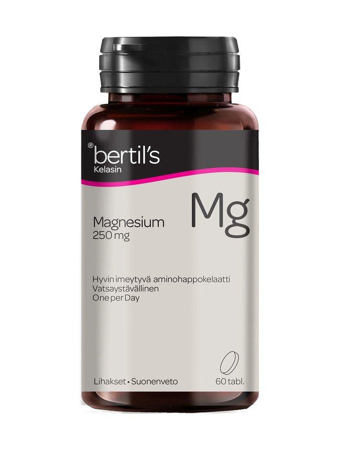 Bertil's Magnesium 250 mg -ravintolisä 60 tabl.