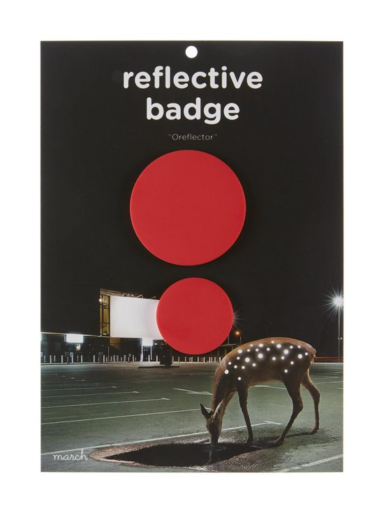 March Design - Oreflector- heijastava rintamerkki 2 kpl - RED (PUNAINEN) | Stockmann - photo 1