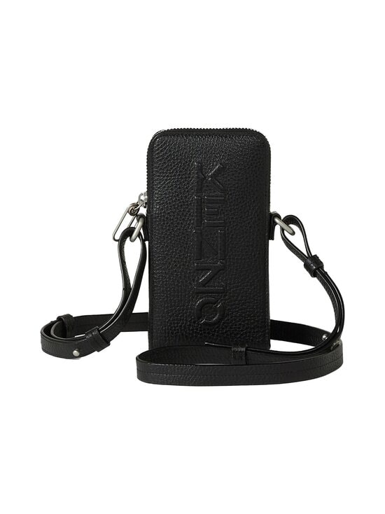 Kenzo - Imprint Grained Leather Crossbody Phone Holder -nahkalaukku - 99BLACK | Stockmann - photo 1