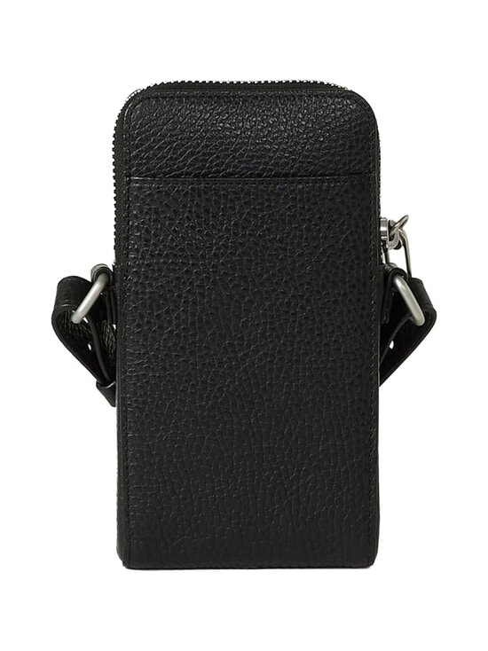 Kenzo - Imprint Grained Leather Crossbody Phone Holder -nahkalaukku - 99BLACK | Stockmann - photo 2