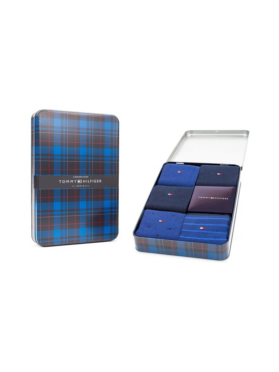 Tommy Hilfiger - Tin Giftbox -sukat 5-pack - 002 DARK NAVY | Stockmann - photo 2