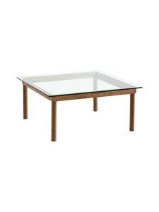HAY - Kofi-pöytä 80 x 80 cm - WALNUT / CLEAR GLASS | Stockmann