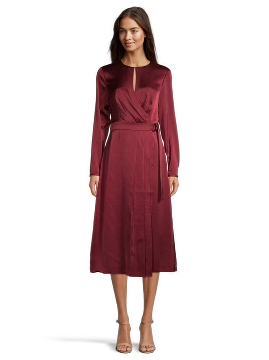 Ted Baker London - Neenha Side Wrap Dress with Pleat Detail -mekko - 45 RED | Stockmann - photo 2