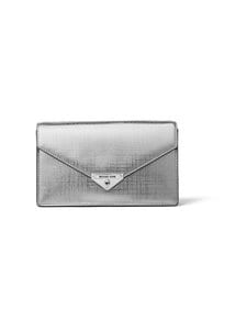 Michael Michael Kors - Grace Medium Envelope Clutch -nahkalaukku - 040 SILVER | Stockmann