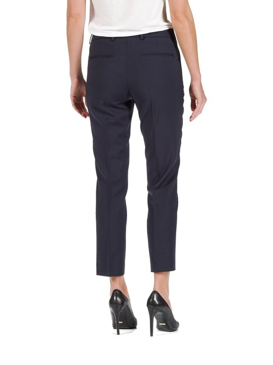 Filippa K - Luisa Cropped Cool Wool Slacks -housut - DARK NAVY (TUMMANSININEN) | Stockmann - photo 2