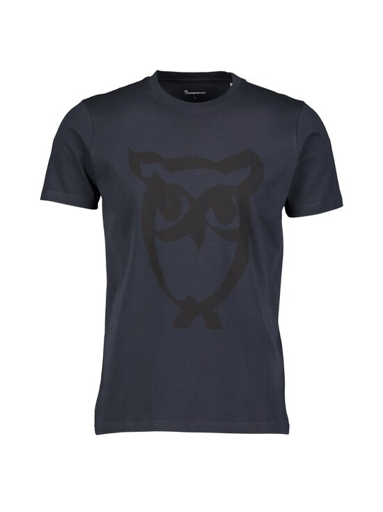Knowledge Cotton Apparel - Alder Brused Owl Tee -paita - 1001 TOTAL ECLIPSE   Stockmann - photo 1