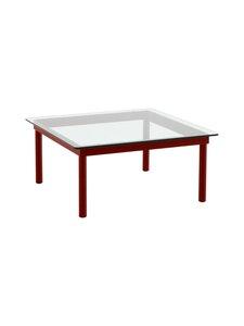 HAY - Kofi-pöytä 80 x 80 cm - BARN RED / CLEAR GLASS | Stockmann
