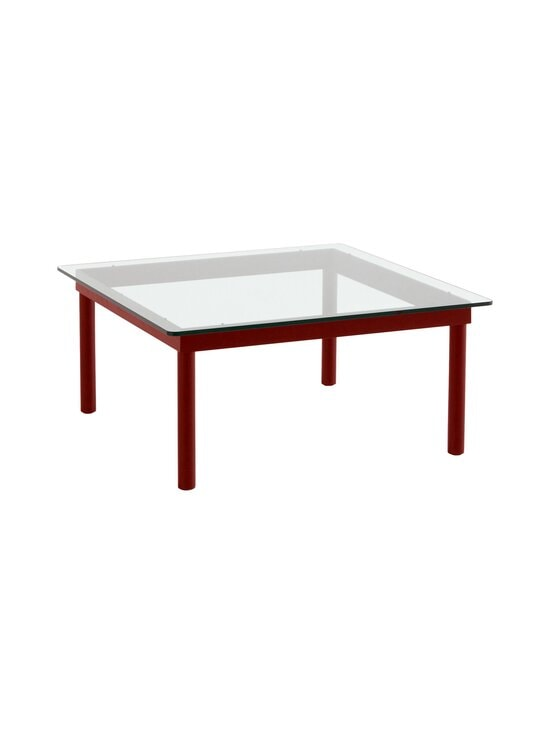 HAY - Kofi-pöytä 80 x 80 cm - BARN RED / CLEAR GLASS | Stockmann - photo 1