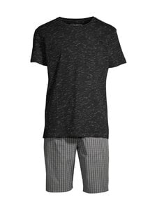 CONSTRUE - Naples-pyjama - BLACK/GREY CHECK | Stockmann