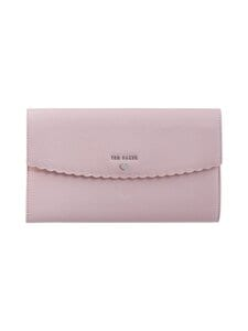 Ted Baker London - Dulceyy Scallop Detail Travel Wallet -nahkalompakko - 51 DUSKY PINK | Stockmann