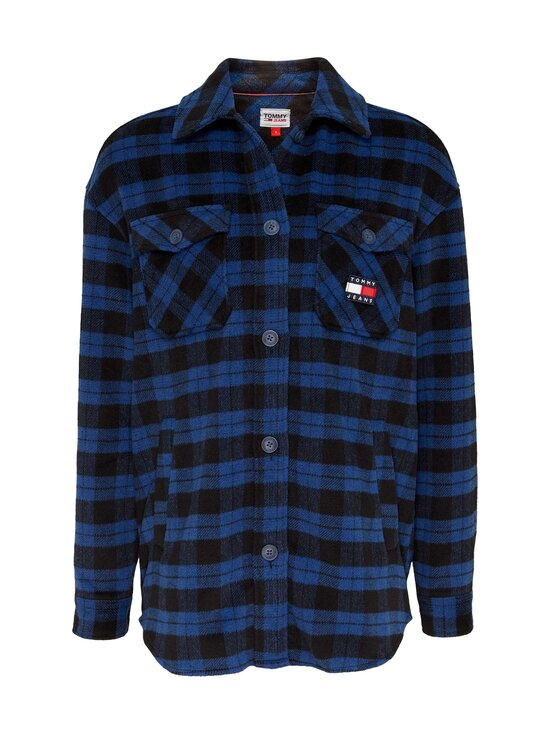 Tommy Jeans - Tjw Flannel Overshirt -paita - 0MV PROVIDENCE BLUE / BLACK CHECK | Stockmann - photo 1
