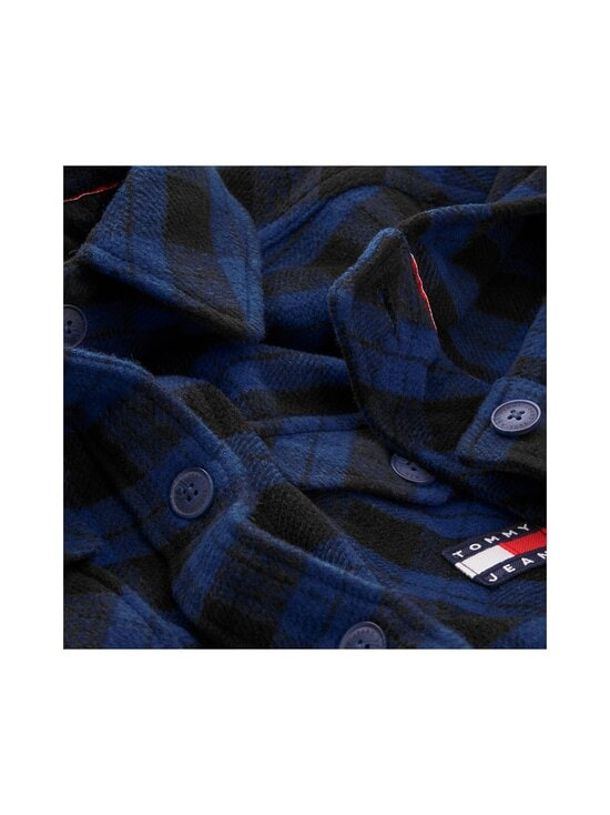 Tommy Jeans - Tjw Flannel Overshirt -paita - 0MV PROVIDENCE BLUE / BLACK CHECK | Stockmann - photo 3