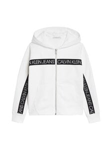 Calvin Klein Kids - LOGO TAPE ZIP THROUGH -collegetakki - YAF BRIGHT WHITE | Stockmann