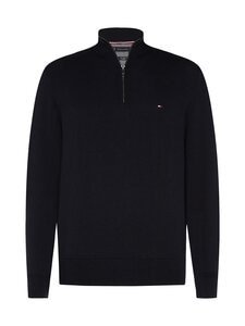 Tommy Hilfiger - Pima Cotton Cashmere Zip Mock -neule - DV6 DESERT SKY HEATHER | Stockmann