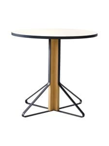 Artek - REB003 Kaari -pöytä, HPL - GLOSSY WHITE/NATURAL OAK (VALKOINEN/TAMMI) | Stockmann
