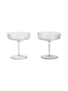 Ferm Living - Ripple Champagne Saucer -lasi 2 kpl - KIRKAS | Stockmann