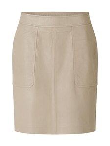SECOND FEMALE - Francie Leather Mini Skirt -nahkahame - 6076 HUMUS | Stockmann