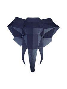 Papercraft World - Elephant Head 3D -koriste - GREY   Stockmann