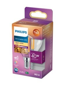 Philips - LED Candle 40W E14 Warm White Dimming -lamppu - WHITE | Stockmann