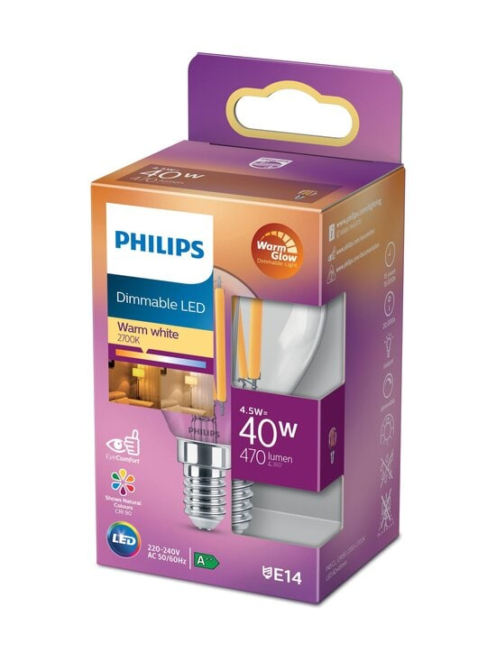 Philips - LED Candle 40W E14 Warm White Dimming -lamppu - WHITE | Stockmann - photo 1