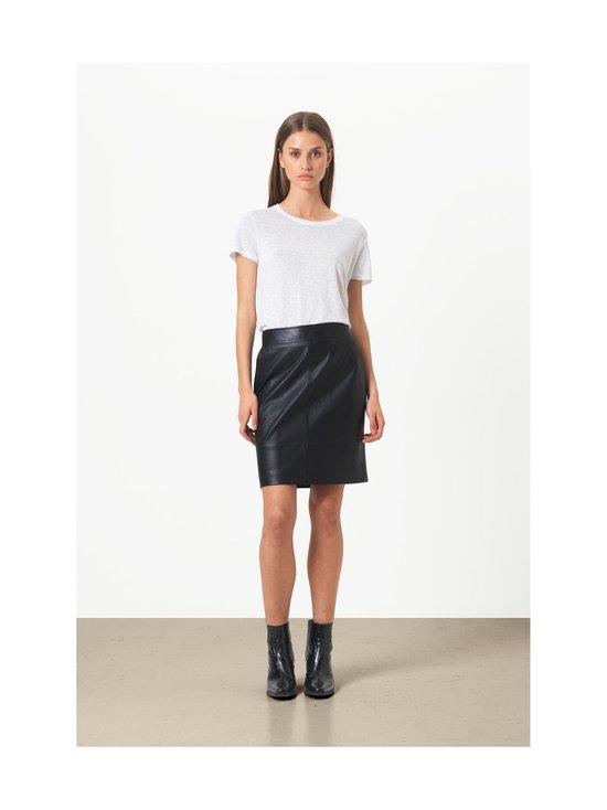 SECOND FEMALE - Francie Mini Leather Skirt -nahkahame - 8001 BLACK   Stockmann - photo 3