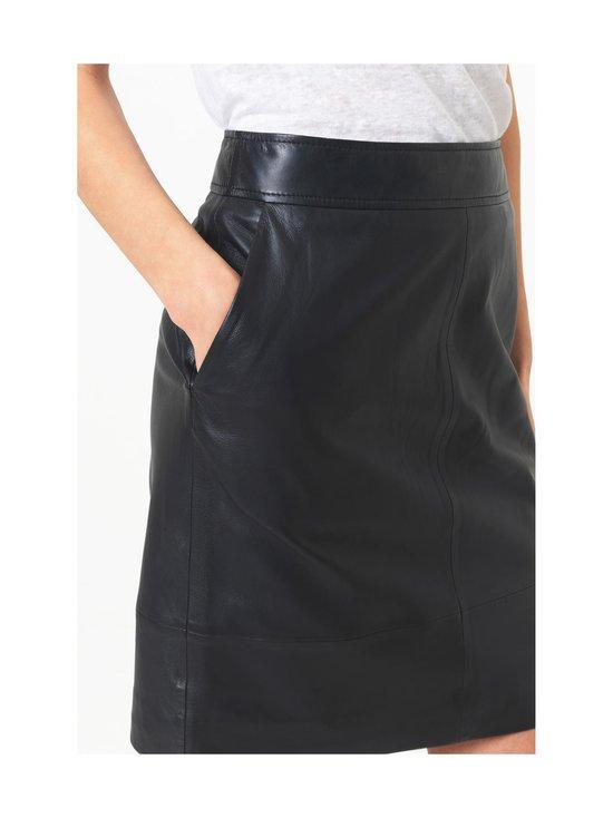 SECOND FEMALE - Francie Mini Leather Skirt -nahkahame - 8001 BLACK   Stockmann - photo 4