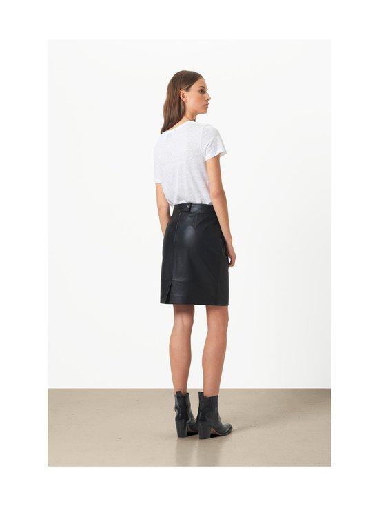 SECOND FEMALE - Francie Mini Leather Skirt -nahkahame - 8001 BLACK   Stockmann - photo 5