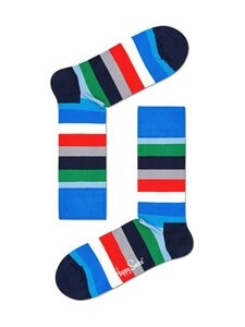 Happy Socks - Stripe-sukat - 6400-BLUE | Stockmann