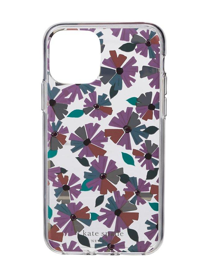 Jeweled Clear Wallflower iPhone 11 Pro -suojakuori