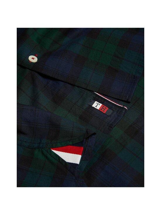 Tommy Hilfiger - Flex Black Watch Check Shirt -kauluspaita - 0N1 HUNTER / PITCH BLUE / BLACK | Stockmann - photo 3